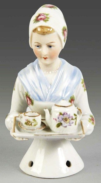 "5: Goebel ""Chocolate Lady"" Porcelain Half Doll."