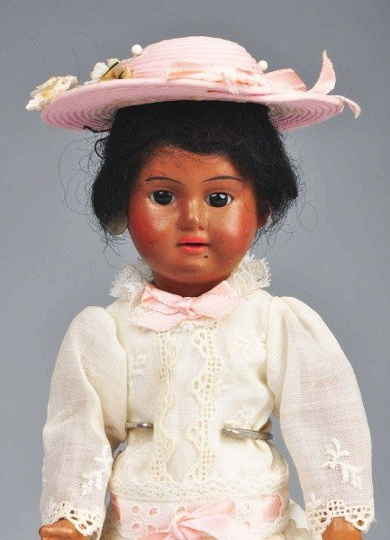 22: Brown French Bisque Child Doll.