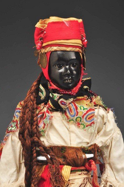 62: Extremely Rare Black Ethnic French Fashion Doll.
