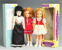 """429: Lot of 3: """"Shirley Temple"""" & Other Vinyl Dolls."""