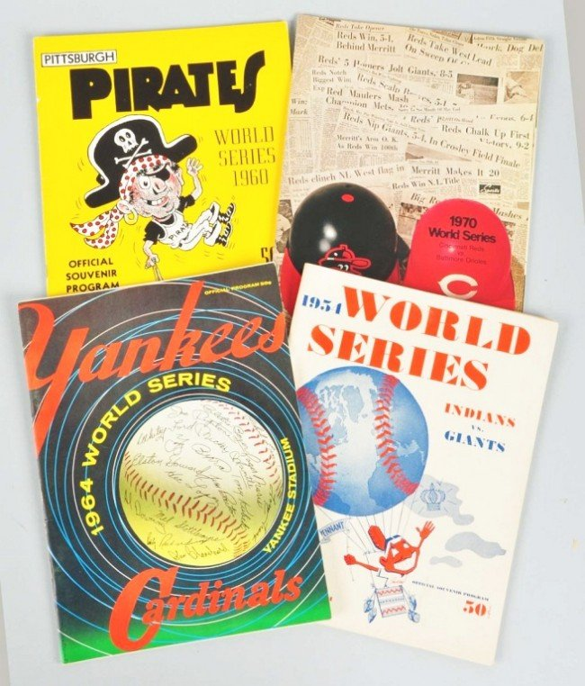 10: Lot of 4: 1950s-70s World Series Programs.