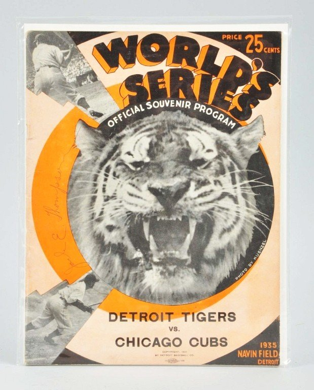 13: 1935 Tigers-Cubs World Series Program.