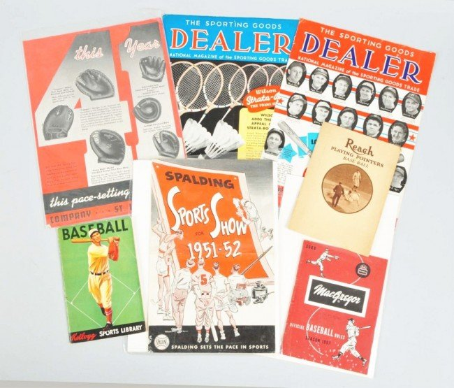 17: Lot of 7: Baseball Booklets & Advertisements.