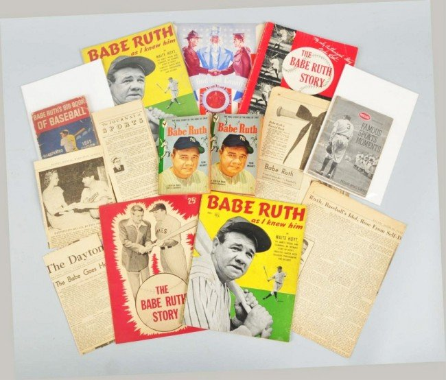 21: Lot of 9: Publications with Babe Ruth.