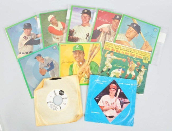 23: Lot of 10: Vintage Baseball Records.