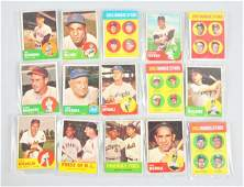 208 Lot of 15 Topps 1963 Baseball Cards