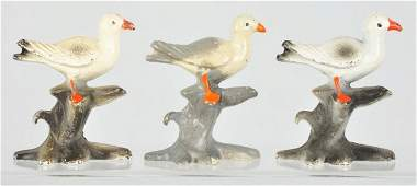 325 Lot of 3 Cast Iron Seagull Bottle Openers