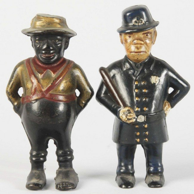 16: Lot of 2: Cast Iron Figural Still Banks.