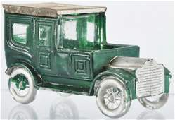 582 Glass Automobile Candy Container