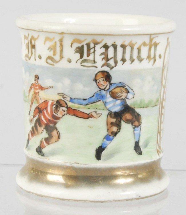 1010: Football Players Shaving Mug.