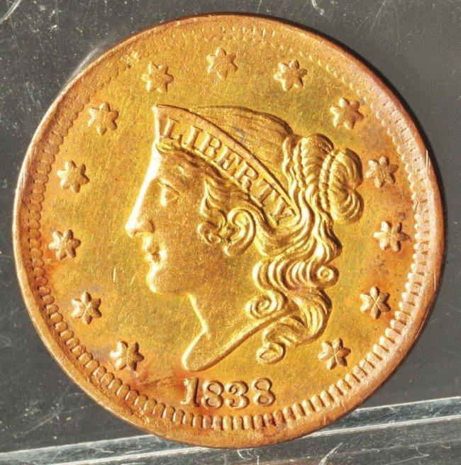 2: 1838 Large Cent.