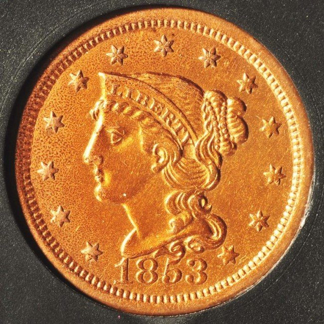 3: 1853 Large Cent.