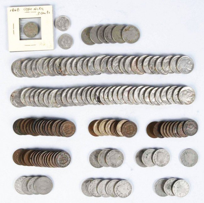 8: Lot of 50: Flying Eagle & Indian Head Cents.