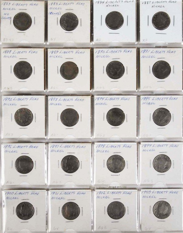 16: V Liberty Nickel Collection.