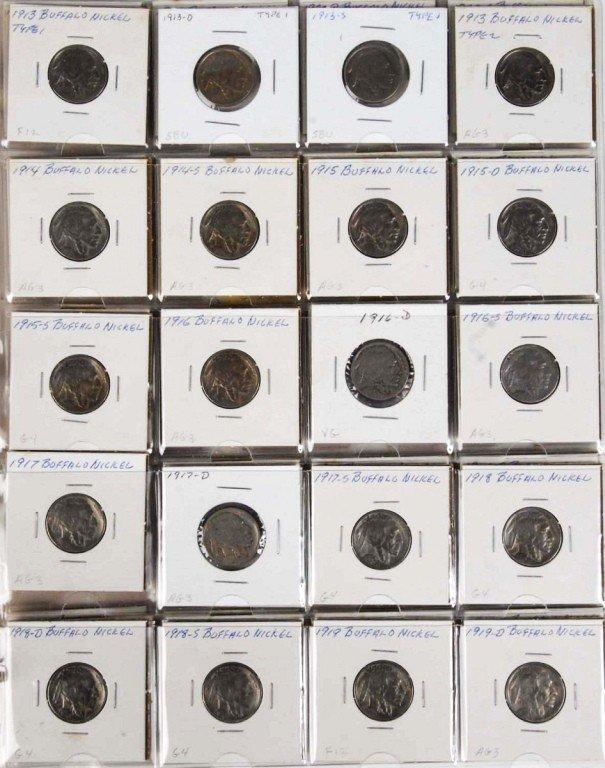 19: Buffalo Nickel Collection.