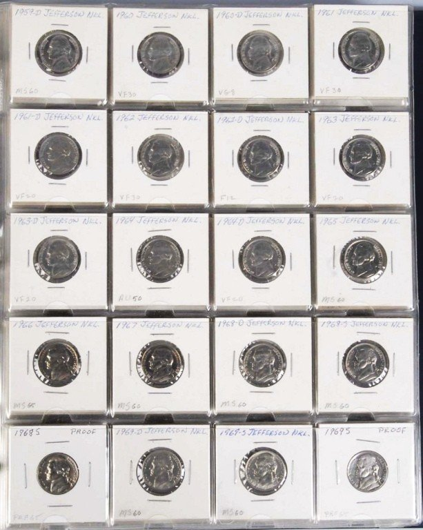 22: Jefferson Nickel Collection.