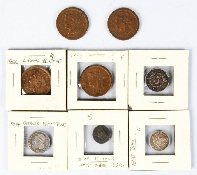 23: Lot of 8: Type Coins.