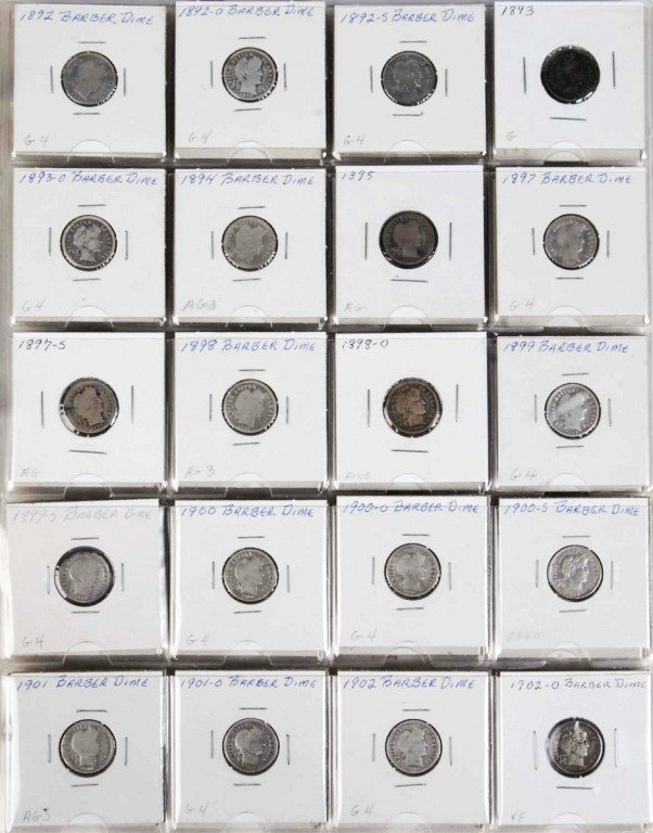 24: Barber Dime Collection.