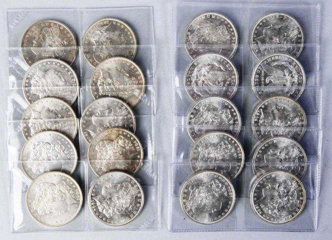 82: BU Roll of 1904-O Morgan Silver Dollars.