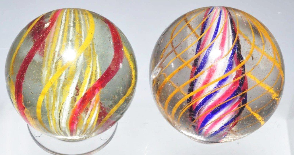 1: Lot of 2: Marbles.