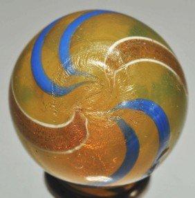 Semi-Transparent Butterscotch Lutz Marble.