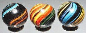 Lot Of 3: Indian Marbles.