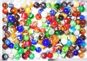 Lot Of 155+ Slag Marbles.