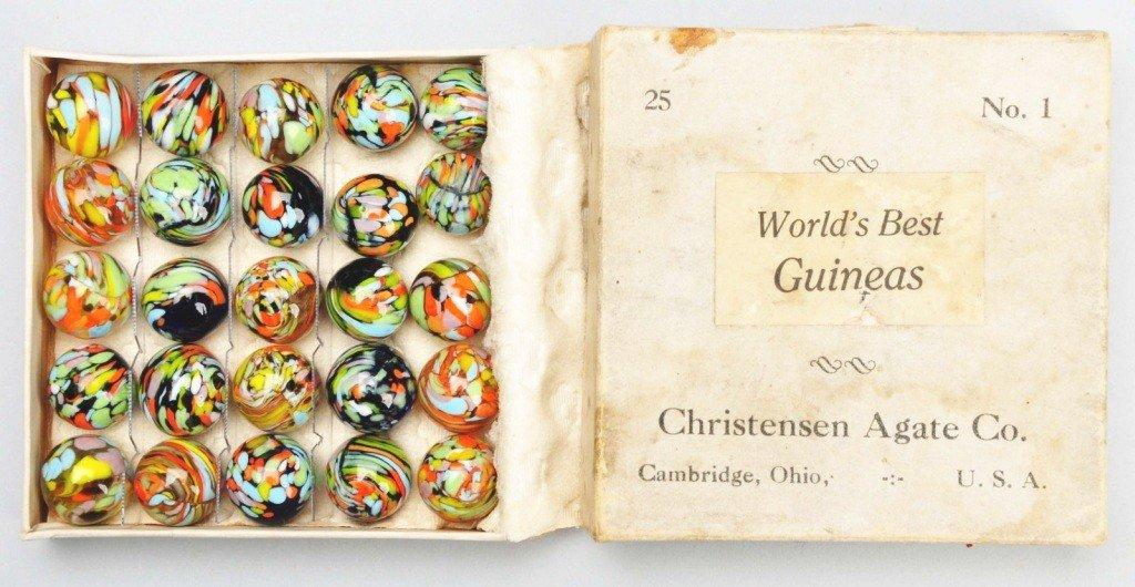 144: Christensen Set of World's Best Guinea Marbles.