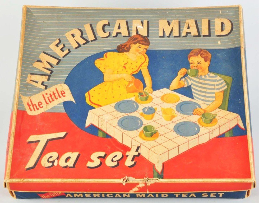 148: American Maid No. 436 Tea Set by Akro Agate.