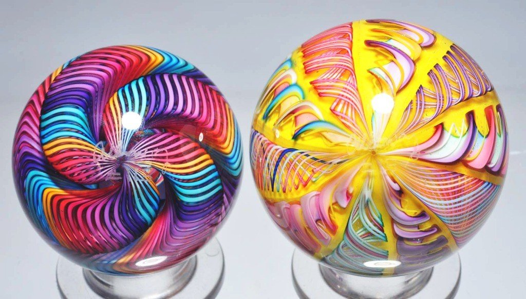 149: Lot of 2: James Alloway Marbles.