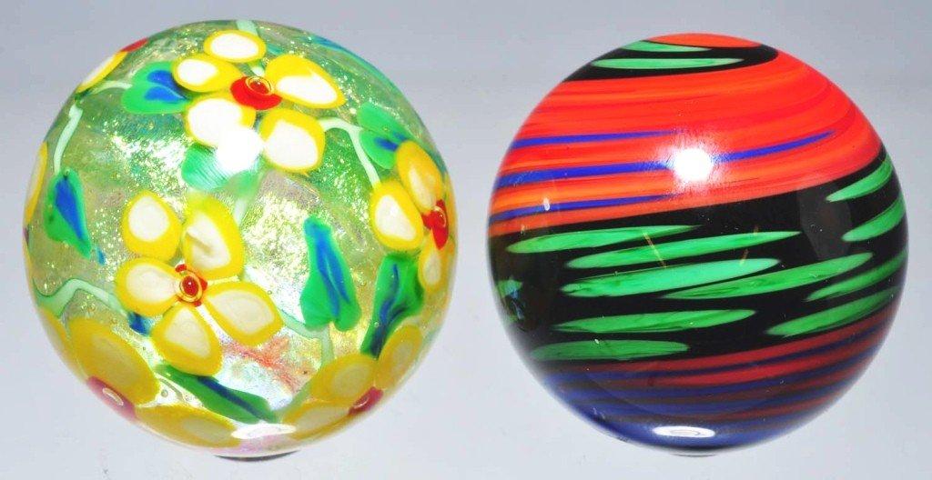 151: Lot of 2: Richardson & Pound Marbles.