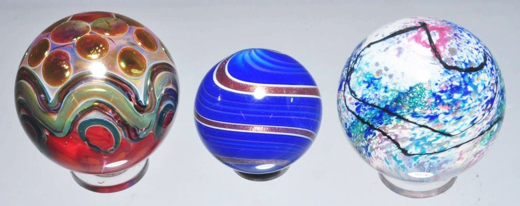 155: Lot of 3: Devi, Howard & Murray Marbles.