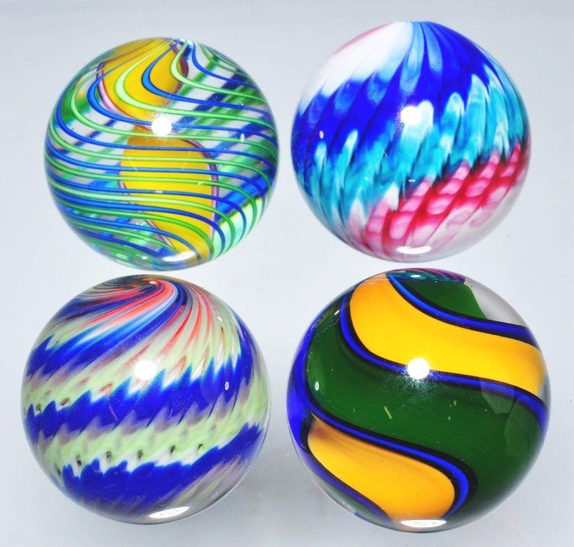 156: Lot of 4: Contemporary Marbles.