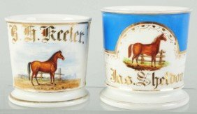 Lot Of 2: Horse Shaving Mugs.