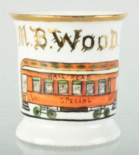 Railroad Car Shaving Mug.