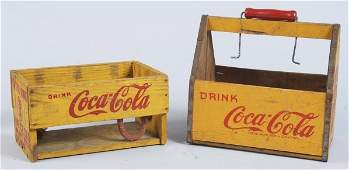 269: Lot of 2: Wooden Coca-Cola Carriers.