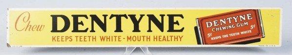 440: Tin Dentyne Chewing Gum Strip Sign.