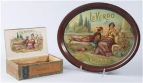 723 Lot of 2 La Verdo Cigar Advertising Pieces