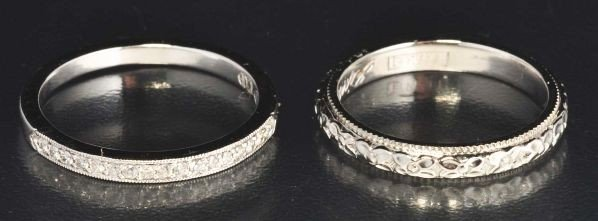 5: Lot of 2: Diamond Wedding Bands.