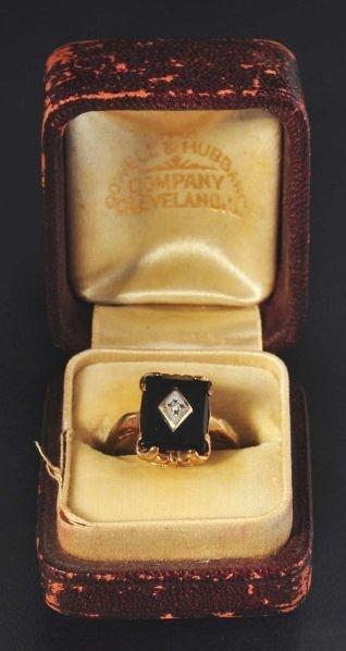 9: Lot of 2: Y. Gold & Diamond Rings.