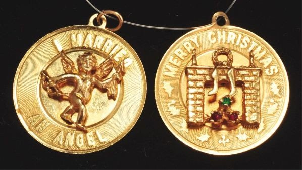 16: Lot of 2: 14K Y. Gold Charms.