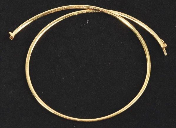 18: 14K Y. Gold Necklace.
