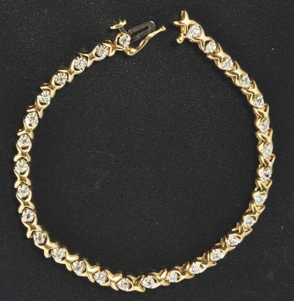 20: 14K Y. Gold & Diamond Bracelet.