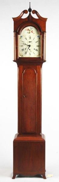 407: Rare Museum-Quality Eli Terry Tall Clock.