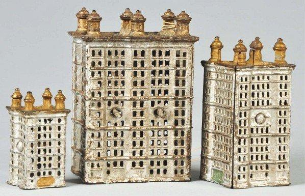 17: Lot of 3: Cast Iron Flatiron Building Still Banks