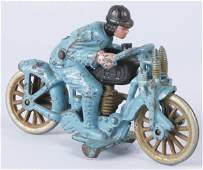 107: Cast Iron Hubley Harley Hill Climber Motorcycle.