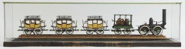 250: Early Folk Art Motor Coach Train Set.