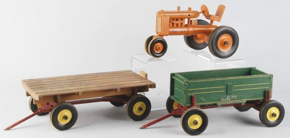 391: Set of 3: Wooden Peter-Mar Construction Toys. - 2