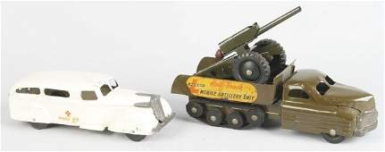 441 Lot of 2 Pressed Steel Vehicle Toys