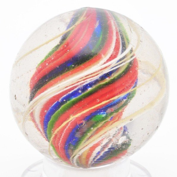 518: Large Divided Core Swirl Marble.